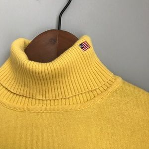 Polo Jeans yellow turtleneck knit top